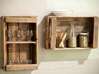 Estanter as y otros muebles reutilizando cajones para - Cajones de fruta de madera ...