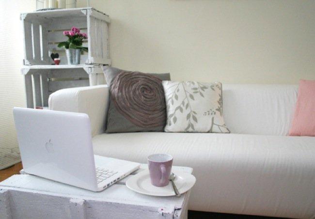 Estanter as y otros muebles reutilizando cajones para frutas - Estanterias con cajas de fruta ...