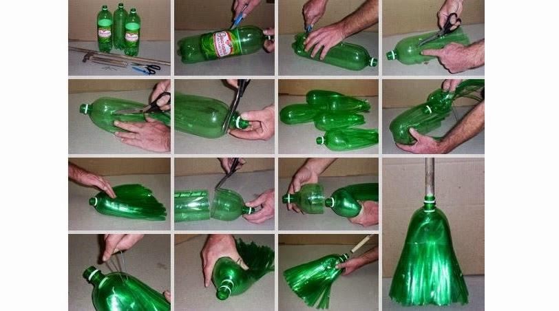 Reciclaje escoba con botellas de pl stico vida l cida - Que se puede hacer con botellas de plastico ...