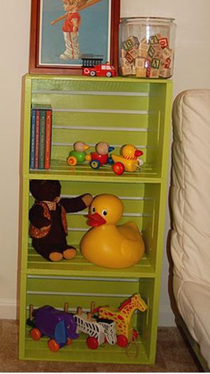 Estanter as y otros muebles reutilizando cajones para - Cajones guarda juguetes ...