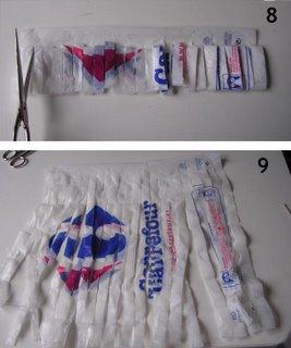 bolsas plásticas cortadas