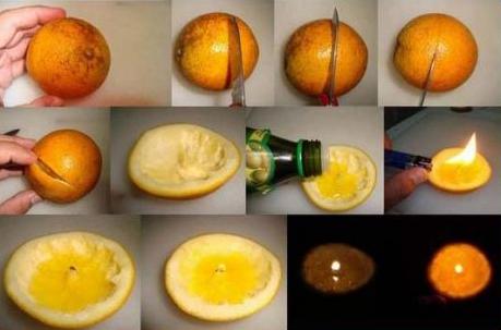 Hacer velas con c scaras de naranjas paso a paso - Ideas para cena rapida sencilla ...