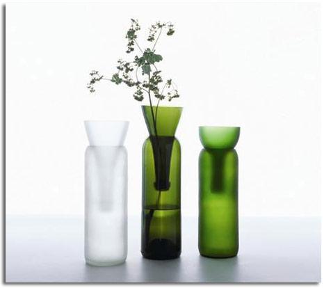 Diseños con botellas de vidrio recicladas - Vida Lúcida
