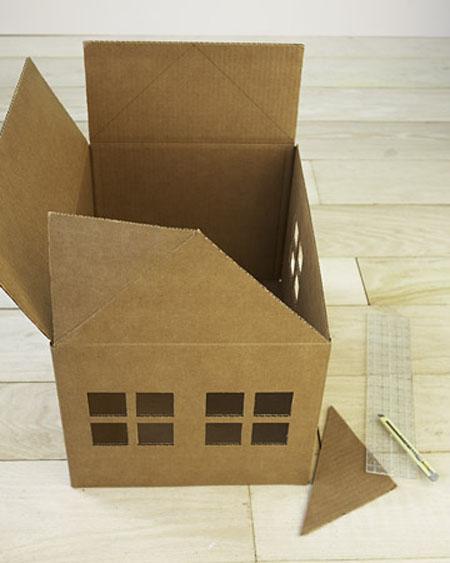 Construir casa de cart n para gatos paso a paso - Casas para gatos de madera ...