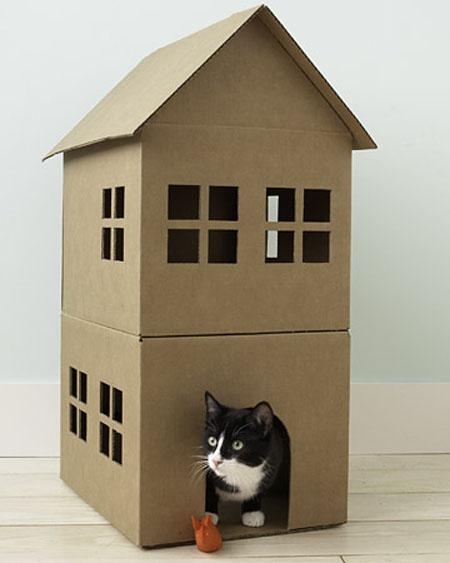 Construir casa de cart n para gatos paso a paso vida l cida - Casa para gato ...