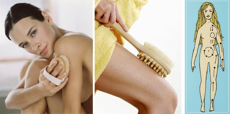 cepillado en la piel seca maneras