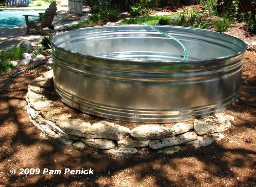 estanque acuático ubicar el recipiente