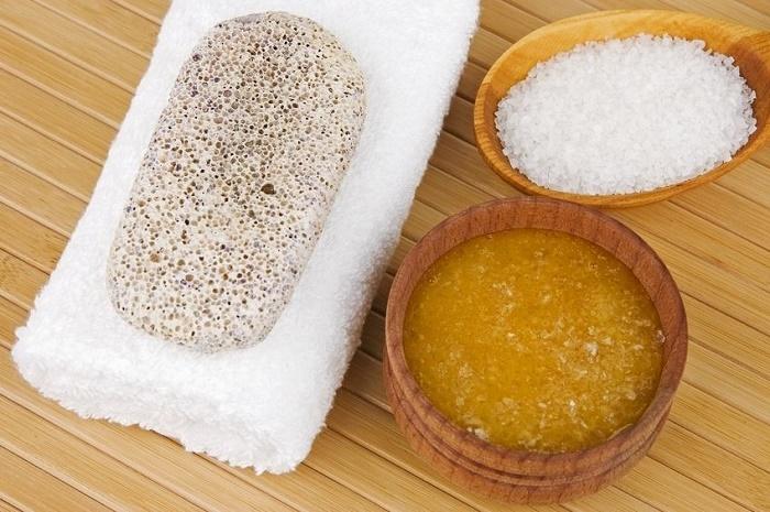 exfoliación con sal marina
