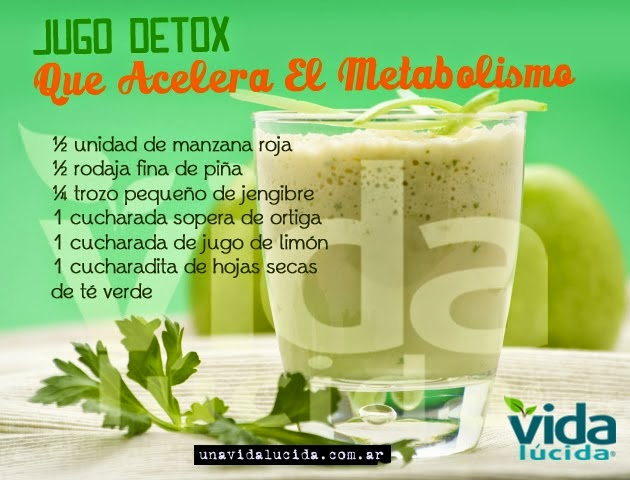 jugo detox para acelerar el metabolismo