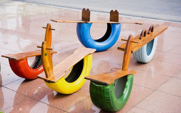 juguetes con neumáticos reciclados