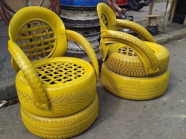 reciclado de neumáticos sillas