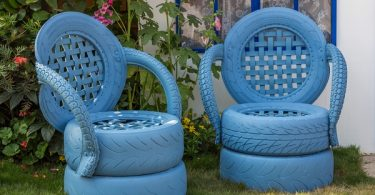 sillas de neumático reciclado