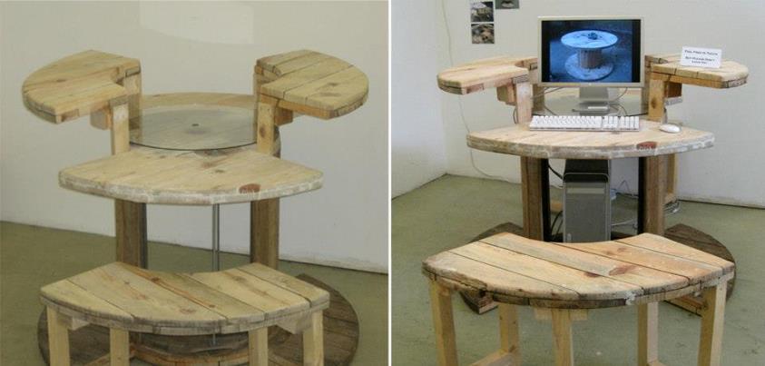 Reciclando carretes de madera para hacer asientos y mesas for Ideas para reciclar muebles