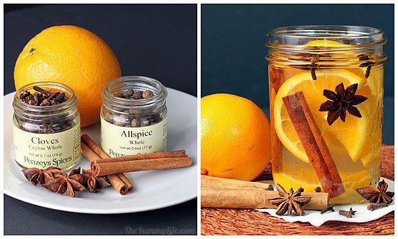 fragancias naturales de cítricos como la naranja