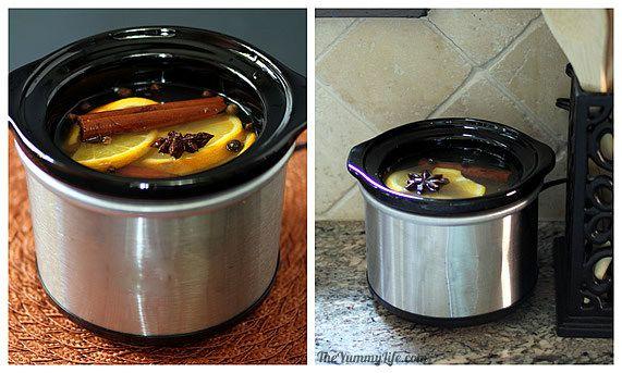 preparadno las fragancias en una olla