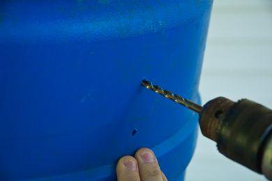 Haciendo agujero en el barril