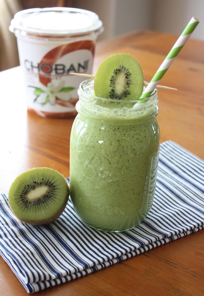 Batido de Espinaca, Kiwi, Manzana y Yogurt natural. - Vida