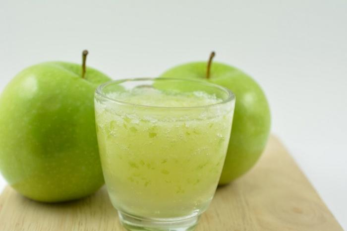 curación con zumo de manzana
