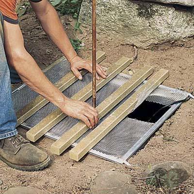 colocando la cubierta debajo de la fuente zen paso 6