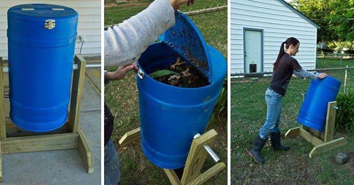 Cómo hacer una compostera giratoria
