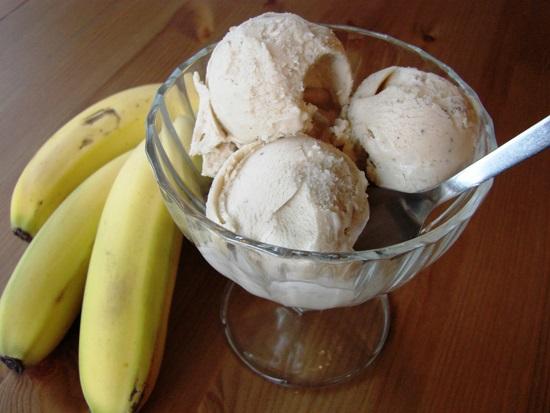 delicioso helado de banana sin leche