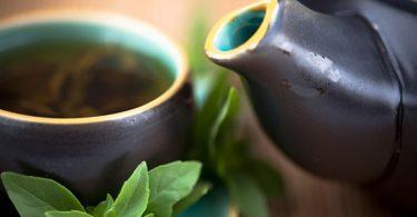 Té verde endulzado con estevia