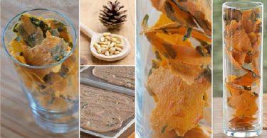hojas de queso con albahaca