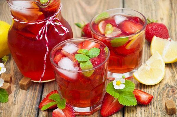 té verde con frutas