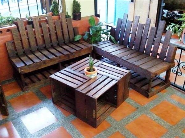 50 ideas de muebles para tu hogar hechas con pallet reciclado - Objetos reciclados para el hogar ...