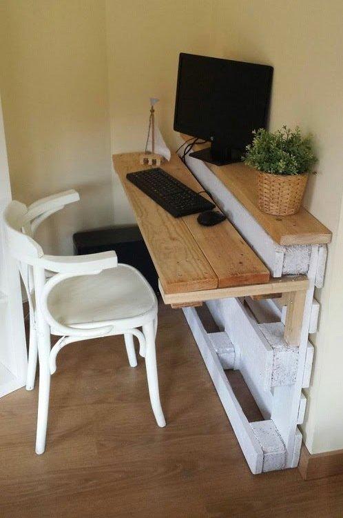 Ideas de muebles para cuarto habitación hechos con con pallet