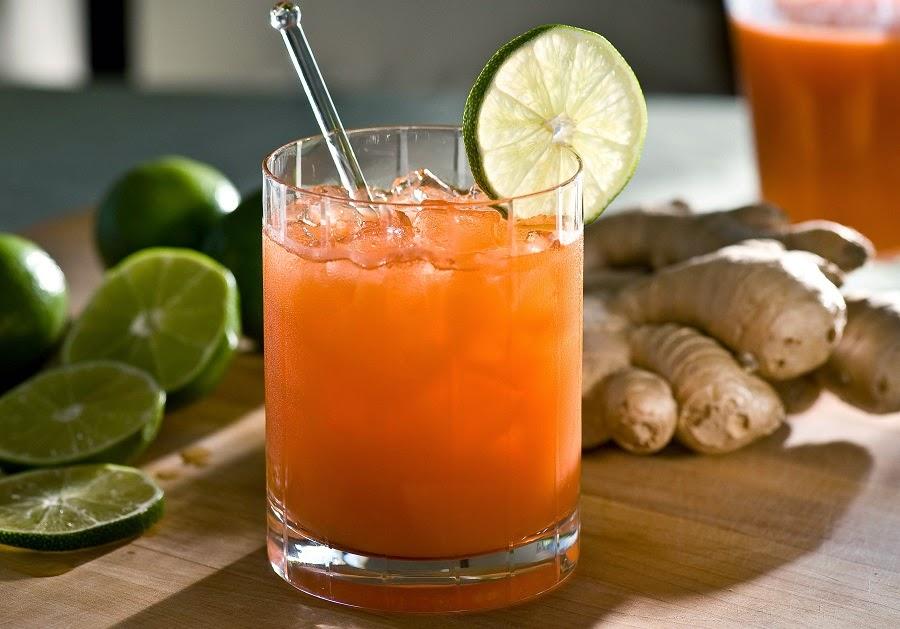 desintoxicación jugo de zanahoria jengibre