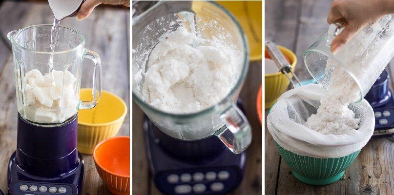 leche de coco pasos