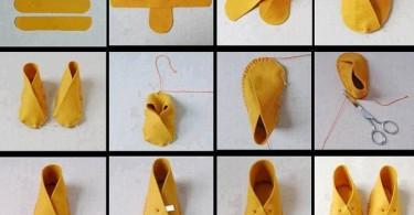 cómo hacer pantuflas paso a paso