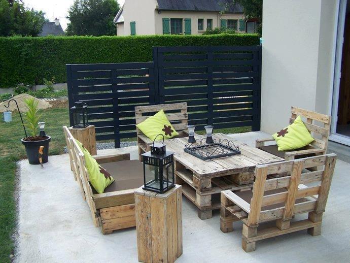 50 ideas de muebles para tu hogar hechas con pallet reciclado - Muebles exterior palets ...