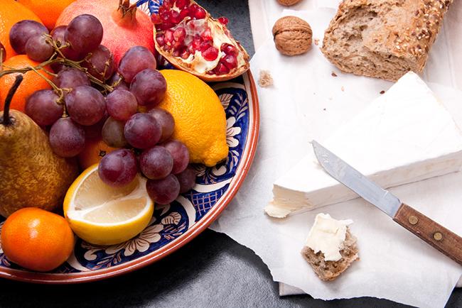 frutas combinadas con nueces
