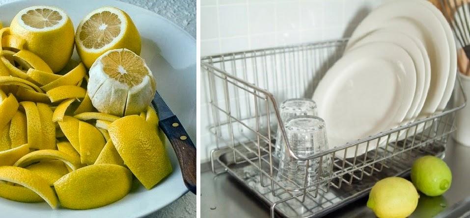 Váscaras de limón y naranja para limpiar la casa