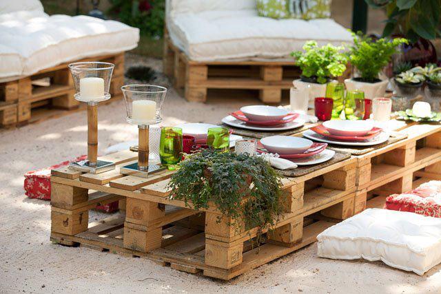 ideias baratas jardins:50 Ideas de muebles para tu hogar hechos con Palet reciclado (Parte 2)