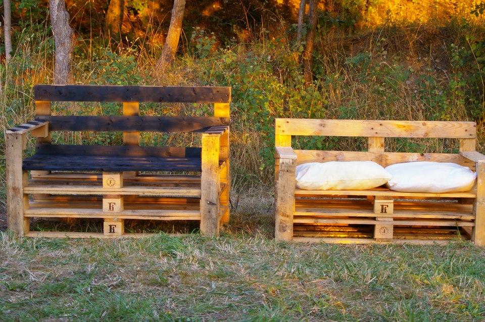 50 ideas de muebles hechos con pallet for Reciclar palets de madera muebles
