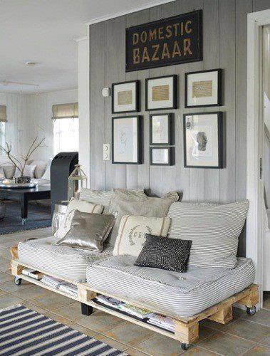 50 ideas de muebles hechos con pallet - Palet reciclado muebles ...