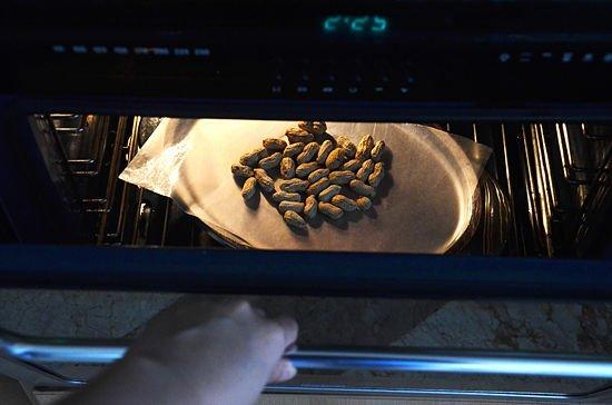 Controlando el maní en el horno