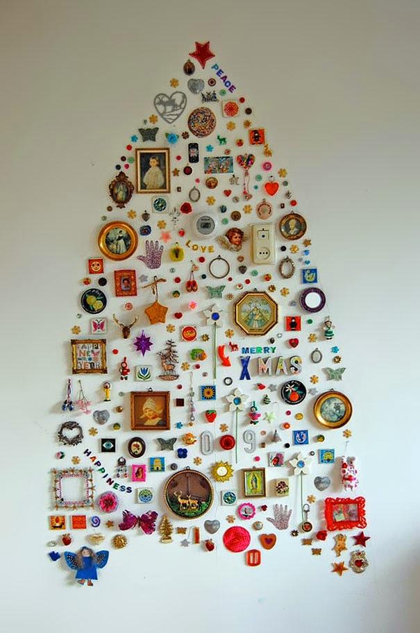 árbol en pared navideño