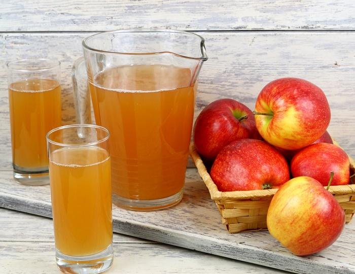 jugos de manzana