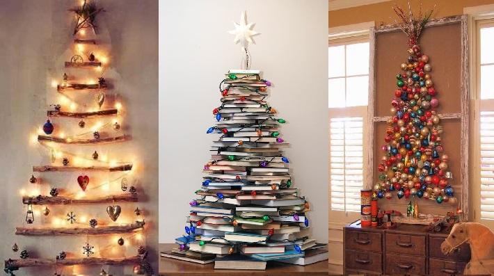 30 ideas para hacer tu propio arbolito estas fiestas for Arboles de navidad caseros y originales