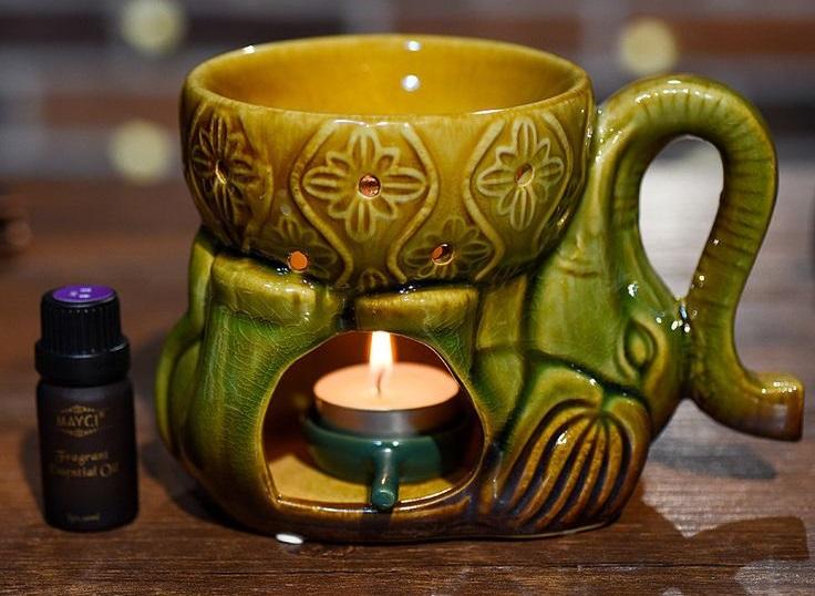 aroma con vela y difusor
