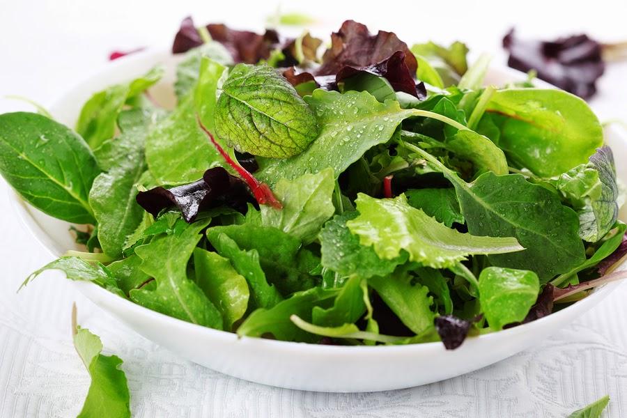 frutas y verduras de color verde