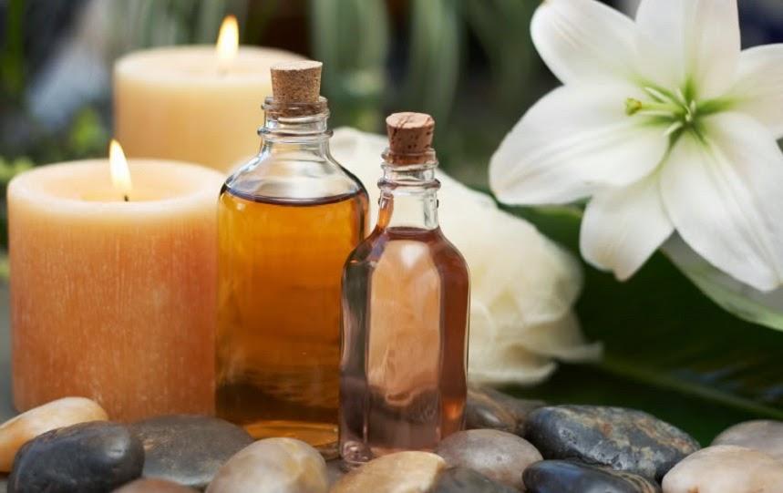 aroma con velas y aceites