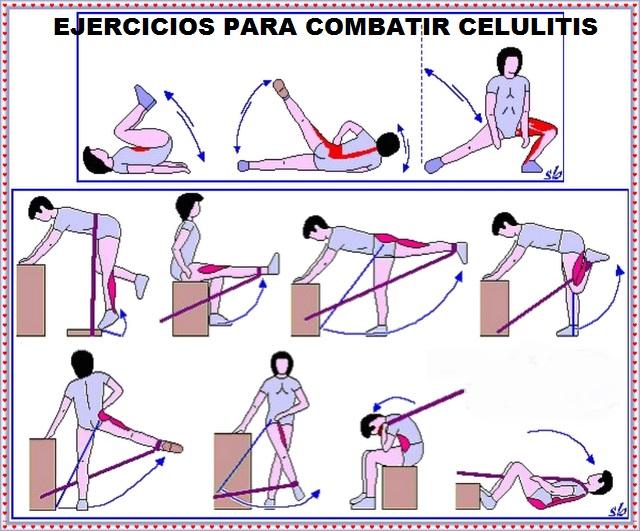ejercicios que ayudan a combatir la celulitis
