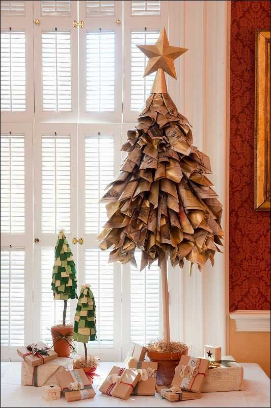 árbol de navidad con papel