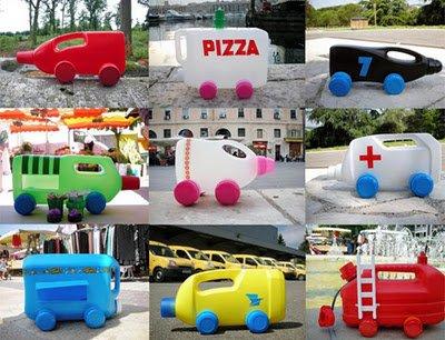 juguetitos de plástico reciclado