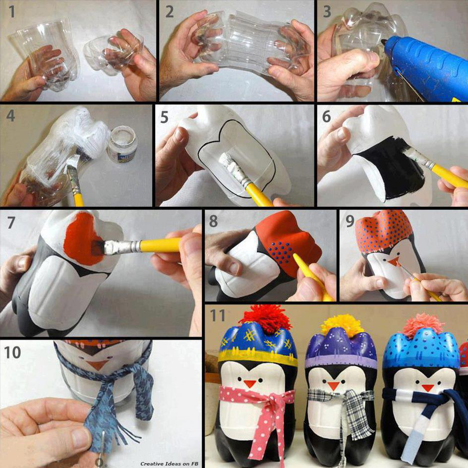 juguete reciclado pingüino